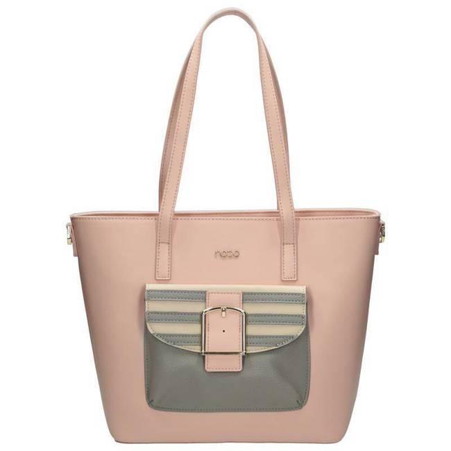 Shopper damski różowy Nobo NBAG-G1280-C004