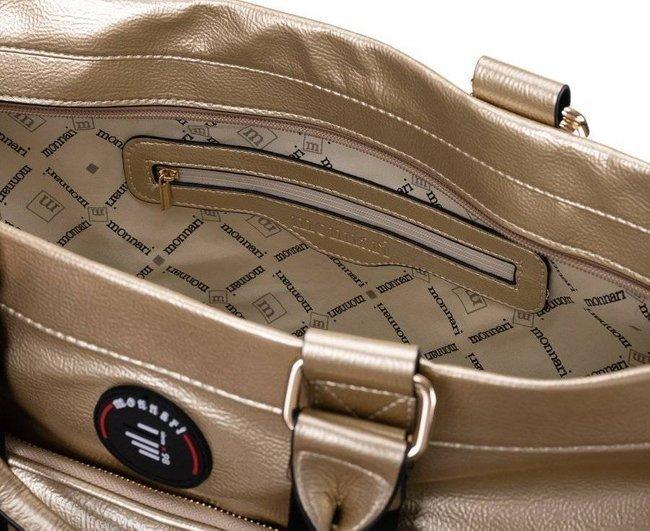 Shopper damski złoty Monnari BAG1510-023
