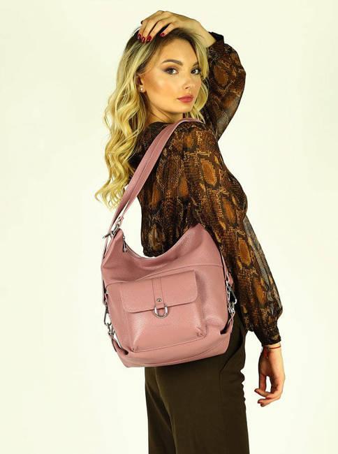 Shopperka plecak 2w1 różowy Mazzini s116u