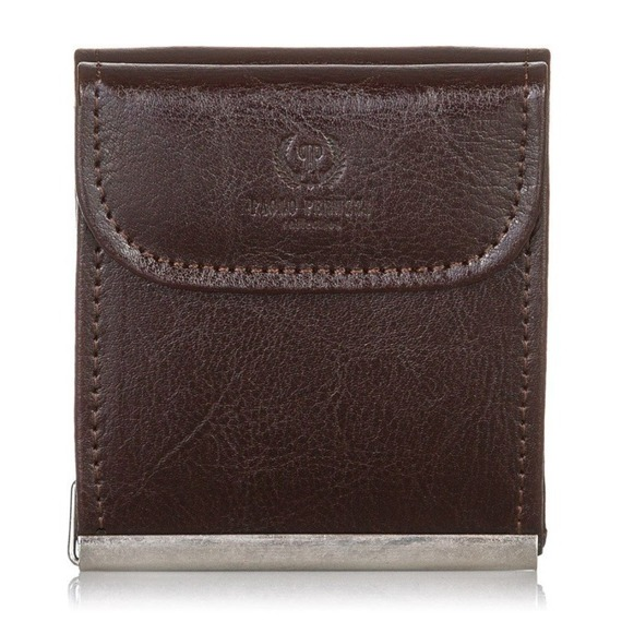 Skórzana banknotówka męska PAOLO PERUZZI GA170 brązowa