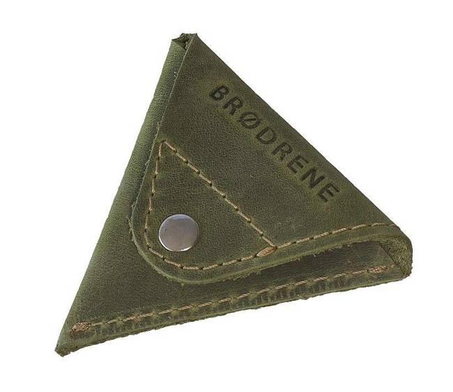 Skórzana bilonówka coin wallet BRODRENE CW01 oliwkowy