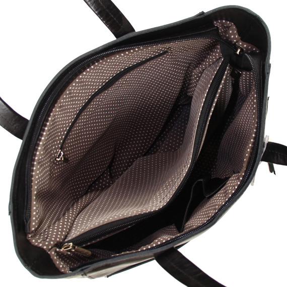 Skórzana czarna torebka DAN-A T394