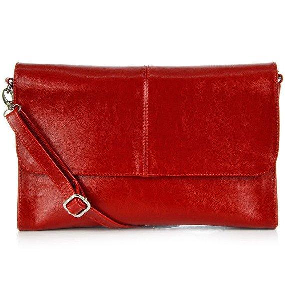 Skórzana damska kopertówka DAN-A T206 czerwona