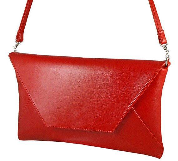 Skórzana damska kopertówka DAN-A T207 czerwona