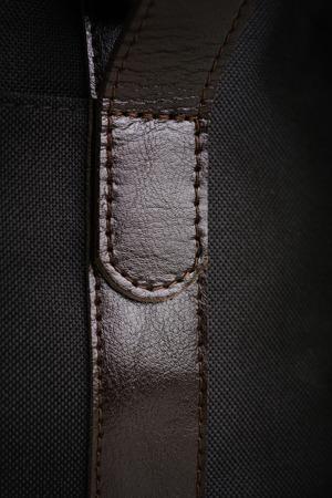 Skórzana i materiałowa torba męska na ramię BRODRENE ML15 czarna
