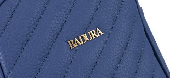Skórzana listonoszka damska fioletowa Badura T_D220FI_CD