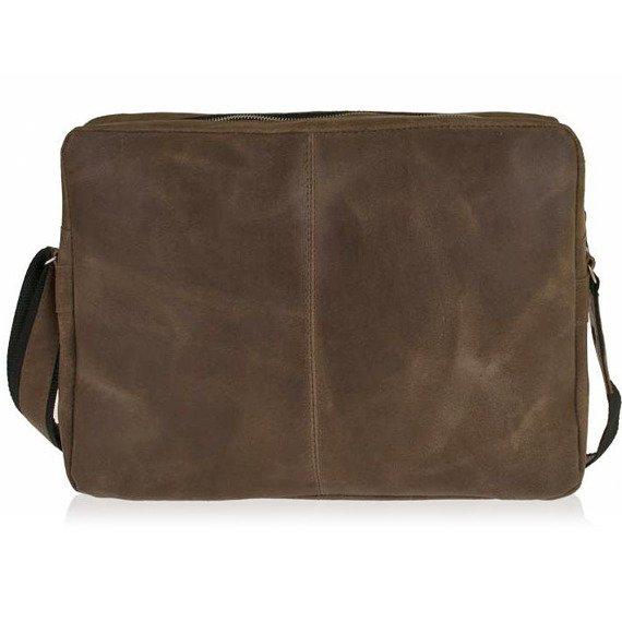 Skórzana listonoszka messenger bag BRODRENE BL19 jasnobrązowa