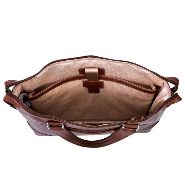 Skórzana męska torba na laptopa MCKLEIN Arcadia 88764 brązowa