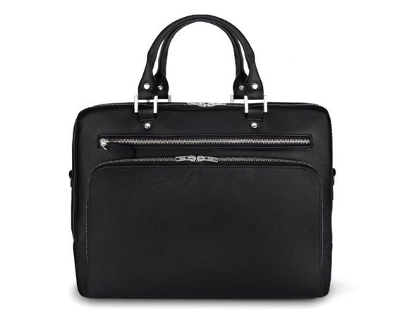 Skórzana męska torba na laptopa Solier SL24 Shannon czarna