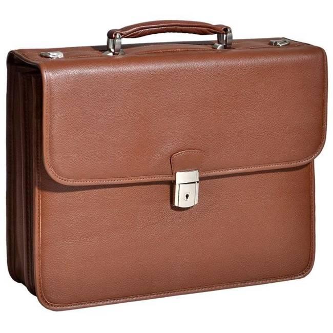 """Skórzana teczka biznesowa Mcklein Ashburn 15144 na laptopa 15,4"""" męska brązowa"""