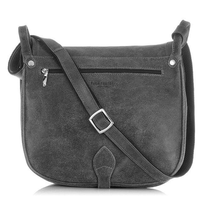 Skórzana torba listonoszka damska vintage PAOLO PERUZZI GA301 szara