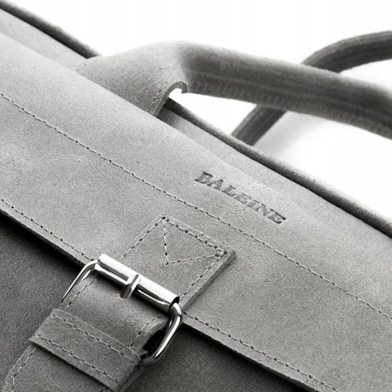 Skórzana torba męska BALEINE T3 ciemnobrązowa
