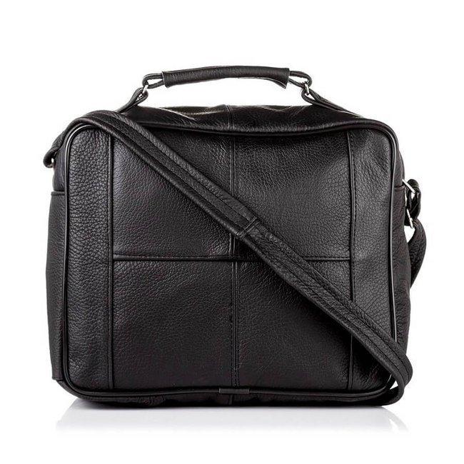Skórzana torba męska do pracy czarna PAOLO PERUZZI B-01