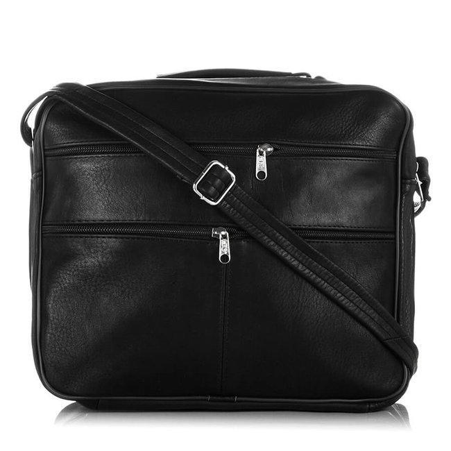 Skórzana torba męska do pracy czarna PAOLO PERUZZI B-10
