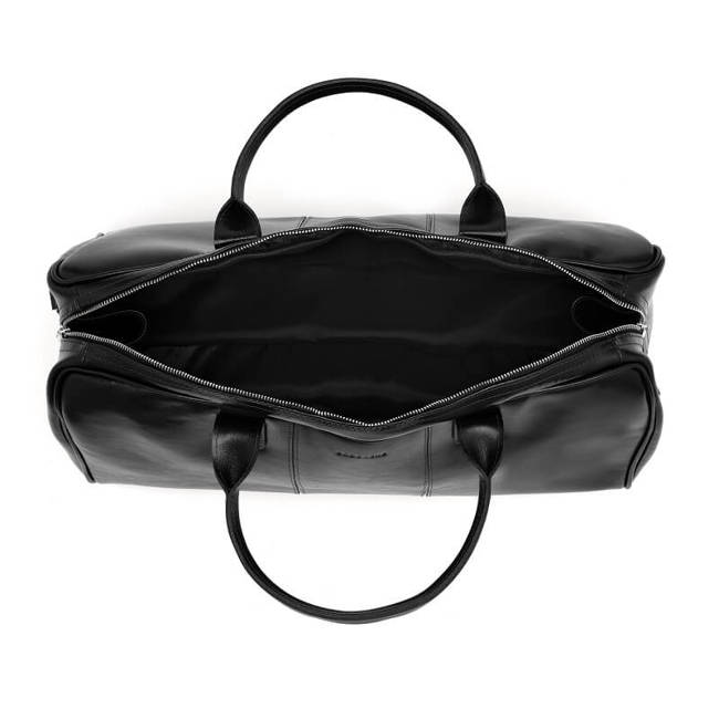 Skórzana torba męska podróżna BRODRENE R10 czarna
