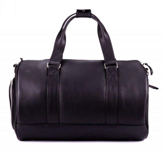 Skórzana torba męska weekendowa SOLIER SL19 Brandon czarna