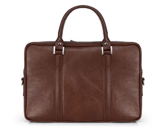 Skórzana torba na laptop Solier SL25 ciemny brąz