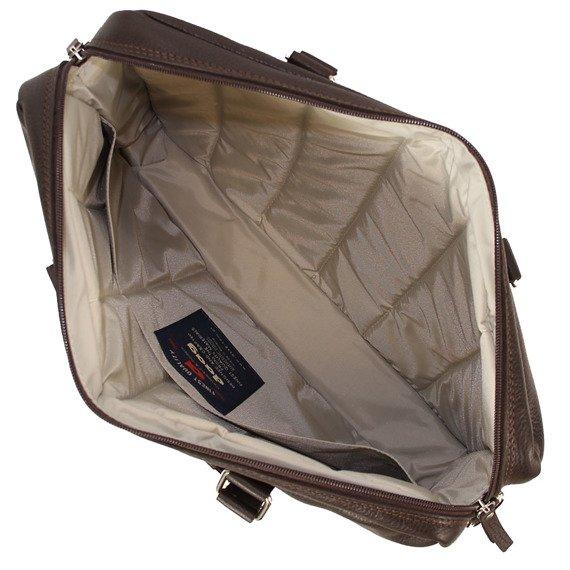 """Skórzana torba na laptopa 15"""" unisex Daag Shaker 3 ciemnobrązowa"""
