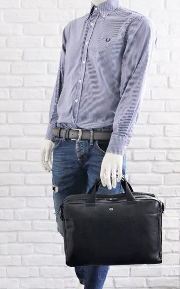 Skórzana torba na laptopa DAAG Albedo 1 czarna