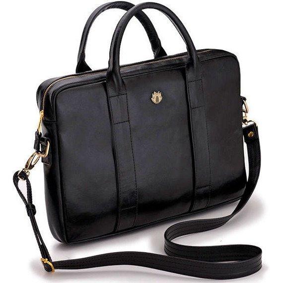 Skórzana torba na laptopa Felice Gold FG04 czarna