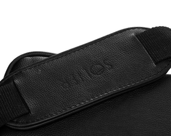 Skórzana torba na laptopa Solier SL22 czarna