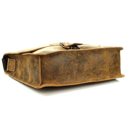 Skórzana torba na ramię brązowa 2JUS by DAAG Land 2