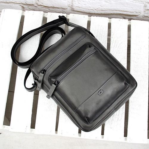 Skórzana torba na ramię szara vintage unisex Daag Alive 29