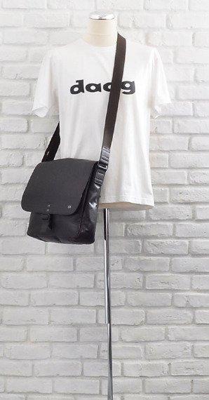 Skórzana torba na ramię unisex Daag Shaker 5 ciemnobrązowa