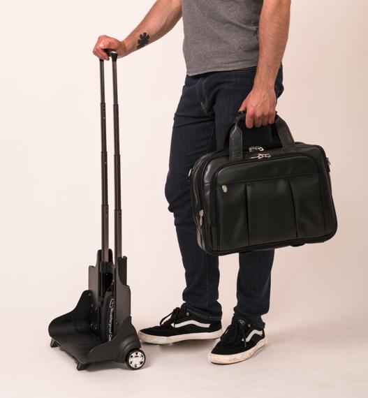 """Skórzana torba podróżna na laptopa 17"""" z odpinanym wózkiem Mcklein Damen 80715 czarna"""