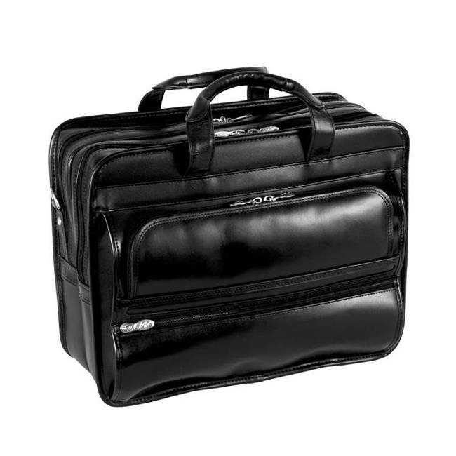 Skórzana torba podróżna na laptopa z odpinanym wózkiem Mcklein Franklin 86445