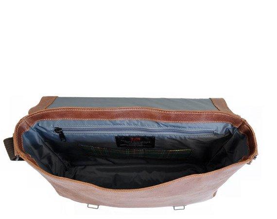 """Skórzana torba / teczka na laptopa 15"""" 2JUS by DAAG Stone 1 koniakowa"""