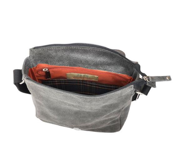 Skórzana torba unisex czarna DAAG JAZZY RISK 166