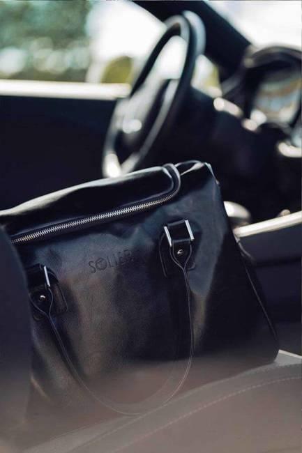 Skórzana torba weekendowa unisex Solier Dratford SL27 vintage brown