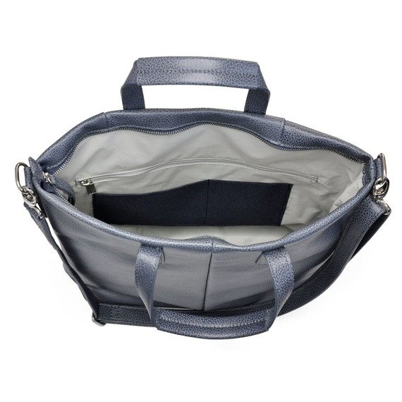 Skórzana torebka DAAG Native 2 szara