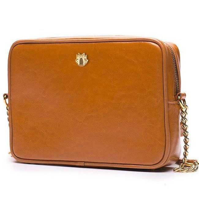 Skórzana torebka listonoszka Felice Gold FELICE01