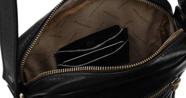 Skórzana torebka listonoszka czarna Badura T_D194CZ_CD