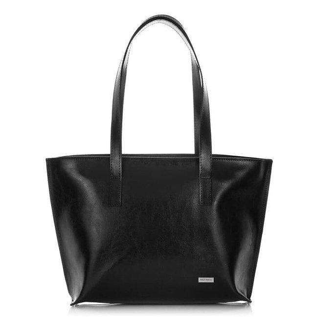 Skórzana torebka na ramię Paolo Peruzzi Z-23-BL czarna