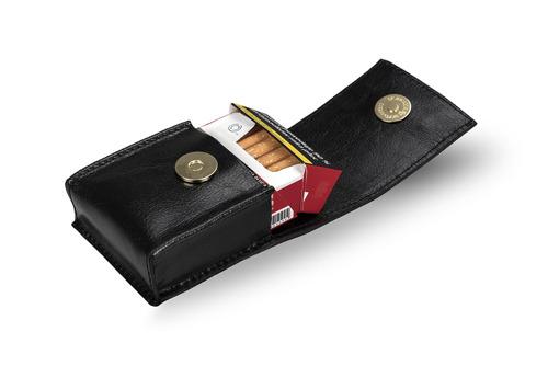 Skórzane damskie etui na papierosy Felice FA14 standard czarne