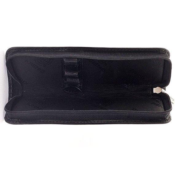 Skórzane etui na długopisy Krenig Classic 12041 czarne