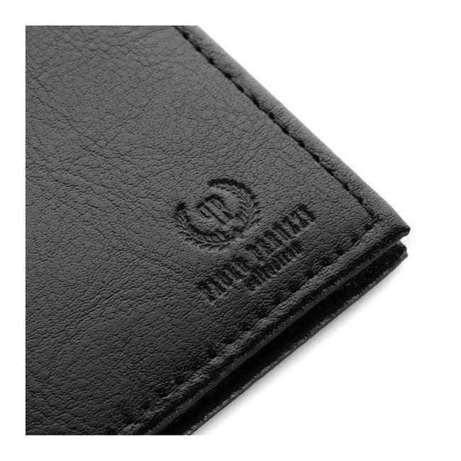 Skórzane etui na karty czarne Paolo Peruzzi H-05