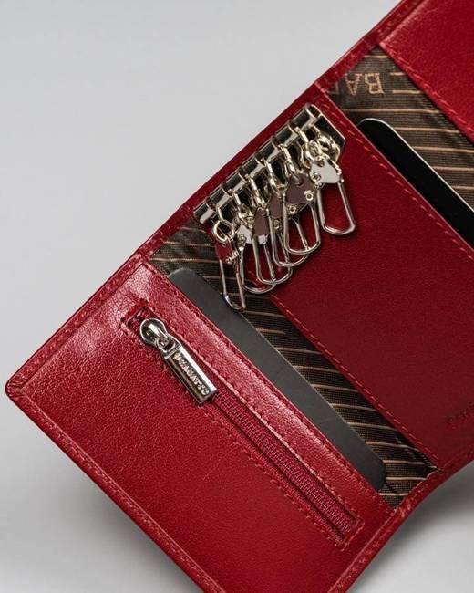 Skórzane etui na klucze portfelik kluczówka PO_D062CR_CE czerwona