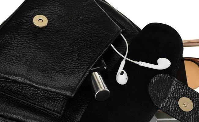Skórzany kuferek damski czarny  Badura T_D212CZ_CD