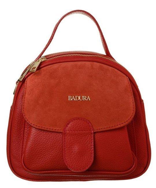 Skórzany kuferek damski czerwony Badura T_D212CR_CD