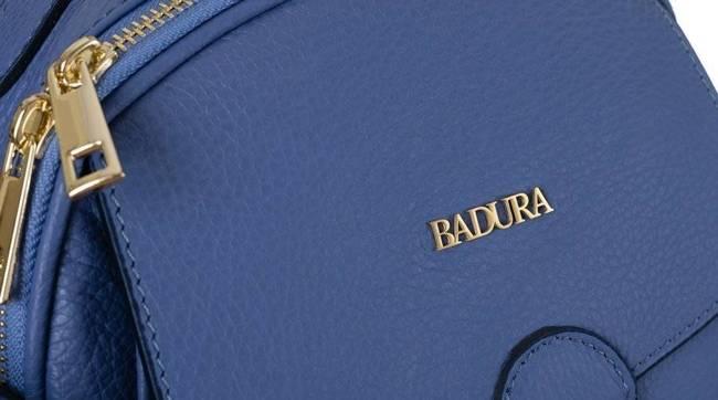 Skórzany kuferek damski fioletowy  Badura T_D212FI_CD