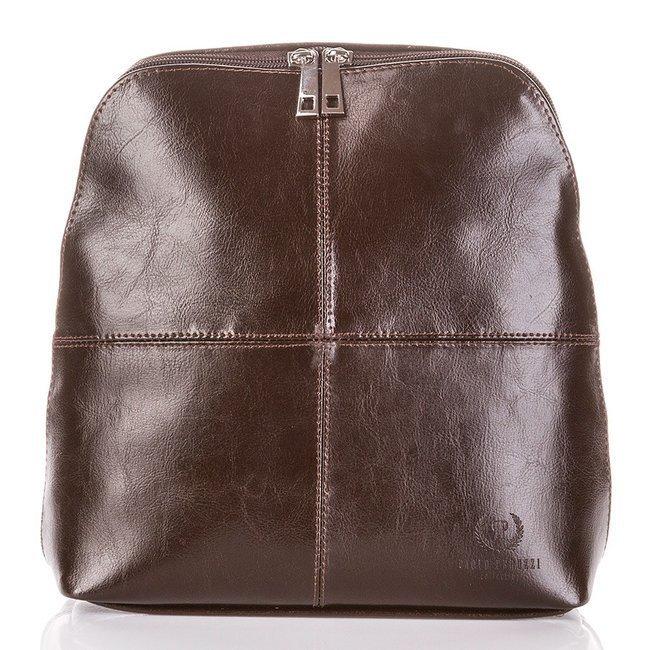 Skórzany plecak damski brązowy Paolo Peruzzi Z-998-PP-BR