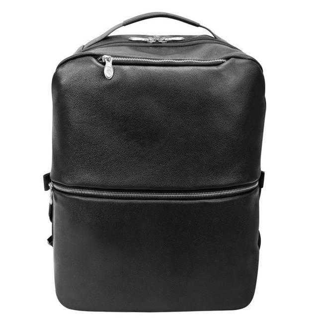 Skórzany plecak i torba na laptopa McKlein East Side czarny