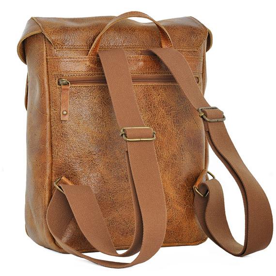 Skórzany plecak na laptopa unisex DAAG Jazzy Wanted 96 jasnobrązowy