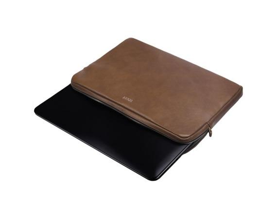 Skórzany pokrowiec etui na laptopa 13 cali Solier SA23 brązowy