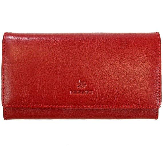 Skórzany portfel damski KRENIG Classic 12051 czerwony w pudełku