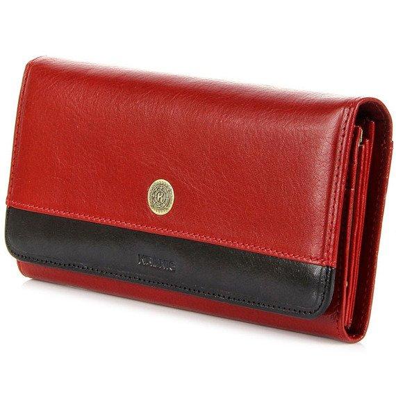 Skórzany portfel damski KRENIG Scarlet 13026 czerwony